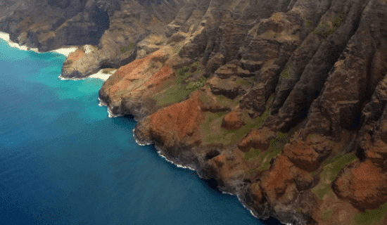 The view of Kauai from a helicopter tour