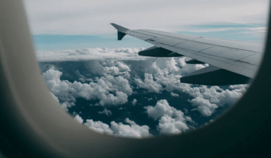 View out of plane window